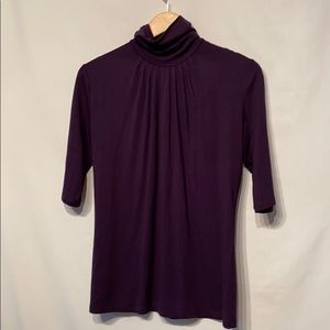 Banana Republic Purple Short Sleeve Turtleneck